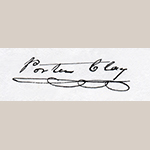 Fig. 2: Porter Clay's signature, taken from a letter to Henry Clay, 7 June 1833, 2014ms0174, Special Collections Research Center, University of Kentucky Libraries.