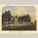 "Fig. 22: ""Ashland: The Home of Henry Clay. Near Lexington, KY.,"" Thomas S. Sinclair (ca.1805-1881), lithographer (Bascom Cooper, publisher), 1852, Philadelphia, PA. Special Collections Research Center, University of Kentucky Libraries."
