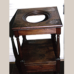 Fig. 22: Washstand attributed to John C. Bowie (1786–1851) and/or Walter Bowie (1790–1853), 1817, Port Royal, VA. Mahogany with tulip poplar. Current location unknown; photograph courtesy Preservation Virginia.