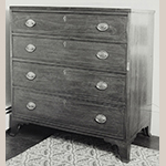 "Fig. 34: Chest of drawers, 1790–1800, attributed to Rockbridge Co., VA. Walnut with tulip poplar and lightwood inlay; HOA: 42-5/8"", WOA: 41-5/8"", DOA: 21-1/2"". Private collection; MESDA Object Database file S-9493."