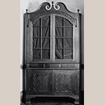 "Fig. 36: Corner cupboard, 1790–1800, Greene Co., TN. Walnut with tulip poplar; HOA: 95-1/2"", WOA: 47-3/4"". Private collection; MESDA Object Database file S-13007X."