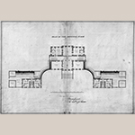 "Fig. 10: Plan of principal floor for Dumfries House, 1754, signed ""Jn, Rbt & Jas Adam."" Royal Commission on the Ancient and Historical Monuments of Scotland (RCAHMS), 43609 (1754)."
