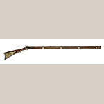 Fig. 2: Rifle made by Jacob Young for William Waid Woodfork, 1800–1805, Sumner Co., TN. Hankla Collection.