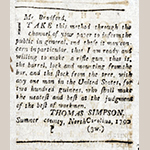 Fig. 28: Thomas Simpson advertisement, 26 July 1790, Kentucky Gazette (Fayette County, KY).