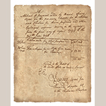 Fig. 38: Receipt of payment to Thomas Simpson by Bennet Searcy for Piomingo's rifle, 30 June 1794. Records of the Accounting Officers of the Department of the Treasury (RG 217), 2nd Auditor, Entry 525A (Settled Indian Accounts and Claims, 1796–1811), National Archives, Washington, DC.