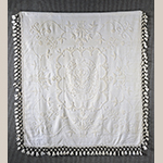 "Fig. 1: Counterpane by Mary (Polly) Armistead, 1793, Bertie Co., NC. Cotton on cotton; HOA: 72"", WOA: 80"" (plus 6-1/2"" fringe). On loan to MESDA courtesy of Caroline Warren Banka, Acc. 3173."