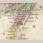 Fig. 7: Detail of Accomack County, VA, highlighted in map illustrated as Fig. 6.