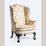 "Fig. 4: Easy chair, 1760-1779, Charleston, SC. Mahogany with cypress and tulip poplar; HOA: 48-1/2"", WOA: 36-1/2"", DOA: 33"". Winterthur Museum, Garden & Library Acc. 1960.1058, Gift of Henry Francis du Pont."
