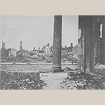 Fig. 7: Ruins of Charleston, SC, looking west from the Circular Congregational Church on Meeting Street, 1865. Pictures of the Civil War, No. 111-B-4667, National Archives and Records Administration, Washington, DC.