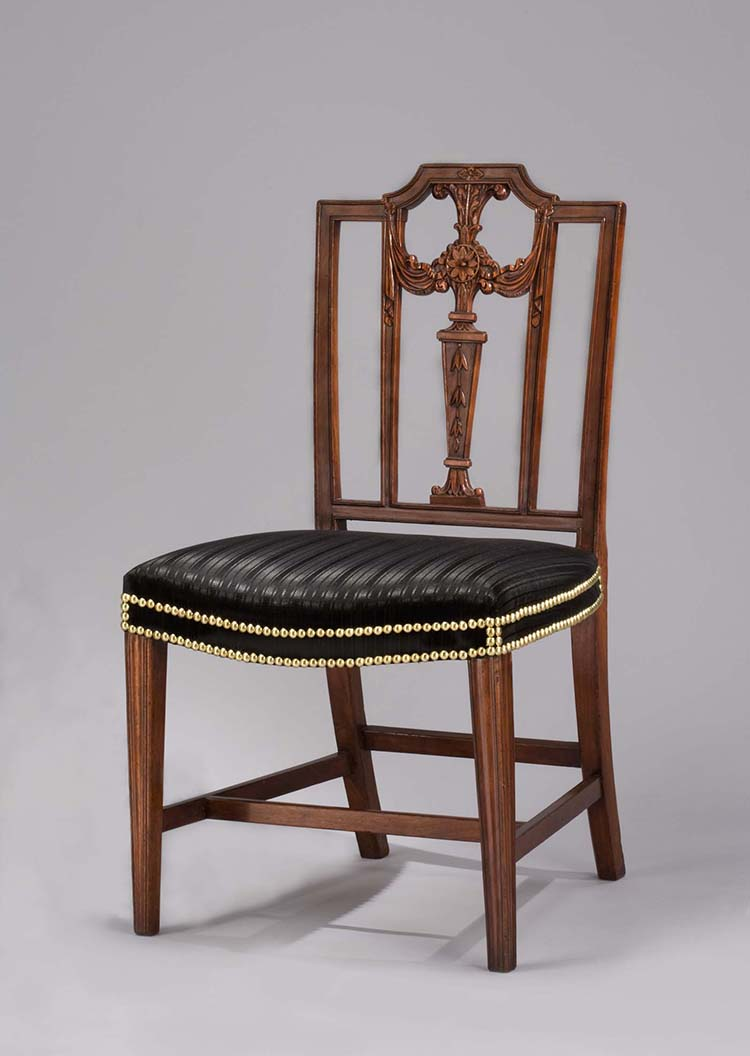 Georgian furniture characteristics - 20 Side Chair Attributed To Henry Ingle 1800 1805 Washington