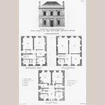 "Fig. 13: Milton House (constructed 1745–1758), designed by William Adam Sr., from Plate 45 of ""Vitruvius Scoticus"" (ca. 1812), engraved by T. Smith. © University of Strathclyde."