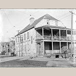 "Fig. 25: Henry Laurens House, East Bay and Laurens streets, by George W. Johnson (American, 1886–1930). Glass plate negative; HOA: 3-1/4"", WOA: 4-1/4"". Image courtesy of the  Gibbes Museum of Art/Carolina Art Association. AN1963.018.0534."