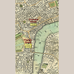 "Fig. 50: Locations of Fludyer and Chandos streets highlighted on a detail from ""New and Accurate Plan of London and Westminster,"" published by John Cary, 1795, London. Ink on paper; HOA: 28-1/2"", WOA: 48-1/2"". Reproduced with the permission of MAPCO Map and Plan Collection Online (online: http://mapco.net/cary1795/cary.htm (accessed 5 April 2016])."
