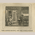 "Fig. 4: Engraving of a cabinetmaker's shop from ""The Panorama of Professions and Trades: Or, Every Man's Book"" by Edward Hazen (Philadelphia, 1837)."