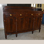 "Fig. 6: Sideboard by Willis Cowling, 1820–1830, Richmond, VA. Mahogany and mahogany veneer with yellow pine and tulip poplar; HOA: 52"", WOA: 71"", DOA: 25"". Private collection."