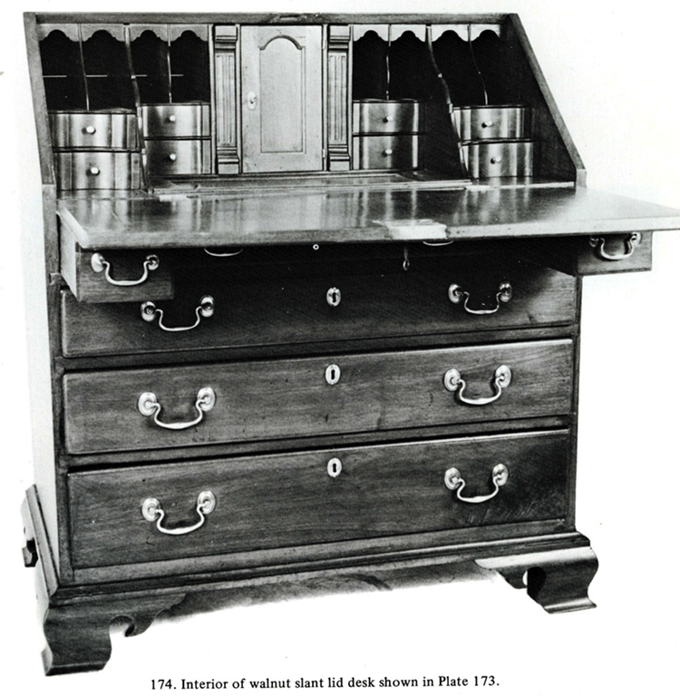 Fig. 14: Desk By Robert Eachus, 1760 1770, Chester Co.