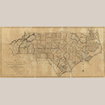"Fig. 1: ""…First Actual Survey of the State of North Carolina…,"" Jonathan Price and John Strother (surveyors), W.H. Harrison (engraver), C.P. Harrison (printer), 1807, Philadelphia, PA. Ink on paper; HOA: 72 cm, WOA: 152 cm. Library of Congress, Geography and Map Division, Washington, DC, G3900 1808 .P7 Vault. Online: http://www.loc.gov/item/2011593508/ (accessed 27 May 2014.)"