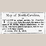 "Fig. 13: Advertisement for the Price-Strother map in the 9 February 1810 issue of ""The Edenton Gazette."""