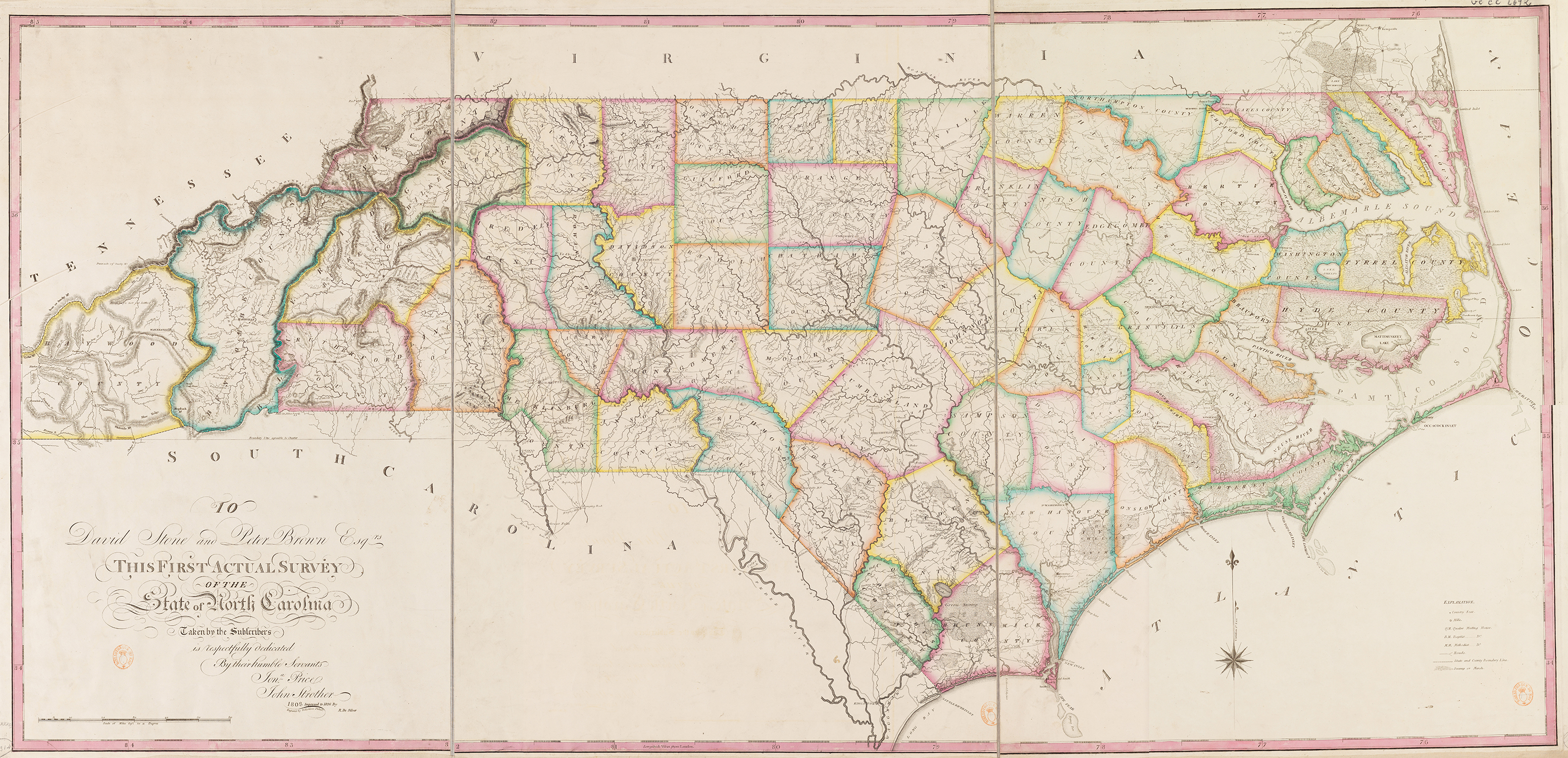 Reflecting On The PriceStrother Map Of North Carolina An - 1808 map of the us