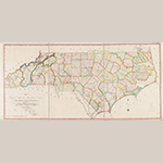 "Fig. 19: ""…First Actual Survey of the State of North Carolina…,"" Jonathan Price and John Strother (surveyors), W.H. Harrison and Robert DeSilver (engravers), 1808 improved to 1826, Philadelphia, PA. Ink on paper; HOA: 72 cm, WOA: 159 cm. Bibliothèque nationale de France, Paris, France; call no. FRBNF40745384. Online: http://catalogue.bnf.fr/ark:/12148/cb40745384d/PUBLIC (accessed 27 May 2014)."