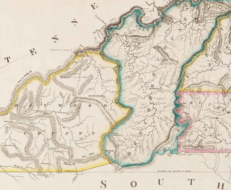 21 Detail Of The 1826 Desilver Imprint Of The Price Strother Map