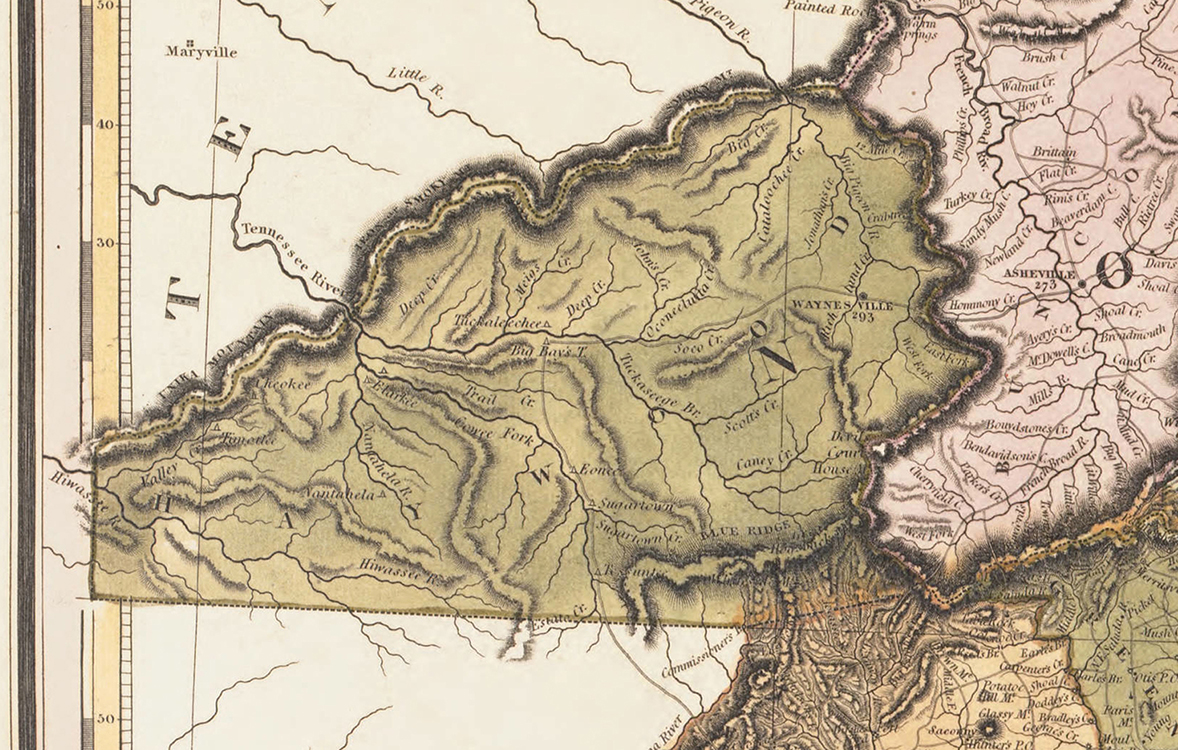 22 Detail Of The 1823 Tanner Map From The Copy Of The