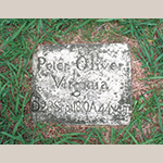 Fig. 37: Grave marker of Peter Oliver, ca. 1810, God's Acre, Salem, NC.