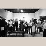 "Fig. 3: Photograph of the opening event for the ""The Swisegood School of Cabinetmaking"" exhibition, MESDA, 1973."