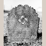Fig. 11: Gravestone of Felix Clodfelter, ca. 1814, Bethany United Church of Christ Graveyard, Midway, Davidson Co., NC. MESDA Object Database file G-137.