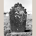 Fig. 15: Gravestone of John Clodfelter, ca. 1826, Bethany United Church of Christ Graveyard, Midway, Davidson Co., NC. MESDA Object Database file G-174.