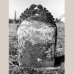 Fig. 16: Gravestone of Peter Clodfelter, ca. 1843, Bethany United Church of Christ Graveyard, Midway, Davidson Co., NC. MESDA Object Database file G-165.