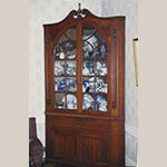 Fig. 53: Corner cupboard, ca. 1825, from the Mordecai Collins estate in Floyd Co., IN. Private collection. MESDA Object Database file S-13871.