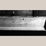 Fig. 65: Signature of John Swisegood on the desk in Fig. 63.