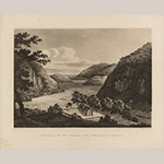 "Fig. 3: ""Junction of the Potomac and Shenandoah Rivers,"" after William Roberts (1762–1809), 1810, engraved by Joseph Jeakes (1788–d.c.1829), London, England. Aquatint; HOA: 15-1/4"", WOA: 19-3/4."" MESDA Acc. 3424.3; Gift of G. Wilson Douglas, Jr. and Douglas Battery Fund."