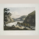 "Fig. 22: ""Junction of the Potomac and the Shenandoah, Virginia,"" after William Roberts (1762–1809), 1810, engraved by Joseph Jeakes (1788–d.c.1829), London, England. Aquatint with period color; HOA: 11-1/3"", WOA: 14"". Collection of the New York Public Library, The Miriam and Ira D. Wallach Division of Art, Prints and Photographs: Print Collection."