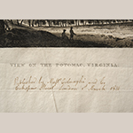 "Fig. 23: Detail of note on MESDA's copy of ""View on the Potomac"" (Fig. 2)."
