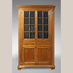 "Fig. 6: Corner cupboard by Moses Crawford, 1790-1800, Knox County, Tennessee. Walnut with yellow pine; HOA: 89-3/4"" (minus replaced feet), WOA: 50-3/4"". Private collection, MESDA Research File 32,406."