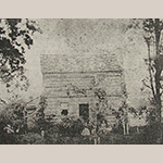 Fig. 10: The Crawford-Anderson-Truan log house built c.1790 by John Crawford on Whites Creek, Knox County, Tennessee. This image was captured c.1870 by Auguste J. Truan.