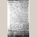 Fig. 13: 1775 land deed with Moses Crawford and Samuel Crawford signatures (Old Book A, Washington County Deeds, 115-123, Washington County Courthouse, Jonesborough, TN).