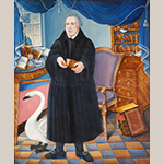 "Fig. 6: ""Portrait of a Clergyman (Martin Luther)"" attributed to Frederick Kemmelmeyer (w.1788-1816); probably Baltimore, MD; circa 1788-1799. Oil on canvas; HOA: 58-5/8"", WOA: 48-1/4"". Collection of the Corcoran Gallery of Art, acc. no. 1981.23."