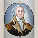 "Fig. 18: ""George Washington"" attributed to Frederick Kemmelmeyer (w.1788-1816); circa 1799-1803. Oil on canvas; HOA: 21-3/4"", WOA: 17-3/4"". Collection of the Museum of Early Southern Decorative Arts (MESDA), acc. no. 3814."