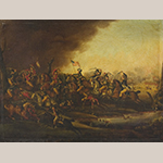 "Fig. 22: ""Battle of Cowpens 17th of January/1781"" by Frederick Kemmelmeyer (w.1788-1816); 1809. Signed ""Painted by/F. Kemmelmeyer Limner/1809."" Oil on canvas; HOA: 30-11/15"", WOA: 40-3/4"". Collection of the Yale University Art Gallery, acc. no. 1944.106."