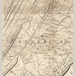 Fig. 2: Areas of Quaker settlement at Opequon in Frederick Co., VA (formed 1743) and southwestern Berkeley Co., WV (formed 1772) detailed from the map illustrated in Fig. 1.