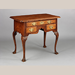 """Fig. 8: Dressing table attributed to Seth Pancoast (1718–1792), 1765–1775, Marple Township, Chester Co. (now Delaware Co.), PA. Maple with chestnut; HOA: 30-1/2"""", WOA: 36-5/8"""", DOA: 23-7/8"""". Collection of the Winterthur Museum, Acc. 2012.0011. Museum purchase with funds drawn from the Centenary Fund and partial gift of the Mickel Family and Curtis Fenstermacher."""