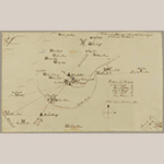 Fig. 9: Map of Winchester by Thomas Fisher, 10 March 1777, Frederick Co., VA. Ink on paper; dimensions not recorded. Collection of the Historical Society of Pennsylvania, Logan-Fisher-Fox family papers, Acc. 5439, Philadelphia, PA.