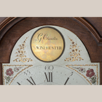 Fig. 51: Detail of the engraved signature of Goldsmith Chandlee on the brass boss attached to the dial on the clock illustrated in Fig. 50.