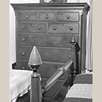 Fig. 64: High chest of drawers (or the upper case of a high chest-on-frame) by Jonathan Ross (1748–1832), 1805, Frederick Co., VA. Woods and dimensions not recorded. Private collection, MESDA Object Database file S-5014.