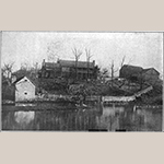 """Fig. 69: Springhill, ca.1776, Bunker Hill, Berkeley Co., WV; unknown photographer, c.1903. This was the Henshaw family homestead located on Mill Creek near Bunker Hill. Illustrated in Miss Valley Virginia Henshaw, """"The Henshaw Family,"""" West Virginia Historical Magazine Quarterly, vol. 4, no. 2 (April 1904): 153."""