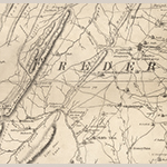 Fig. 74: Fawcett Gap area on Little North Mountain in southwestern Frederick County detailed from the map illustrated in Fig. 1.