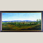 """Fig. 109: """"View of Winchester, Virginia,"""" by Edward Beyer (1820–1865), 1856. Oil on canvas; HOA: 31"""", WOA: 63-1/4"""". Collection of the Museum of the Shenandoah Valley, Acc. 1999.0001. Photograph by Ron Blunt."""